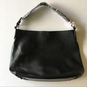 Lulu Dharma perforated black handbag